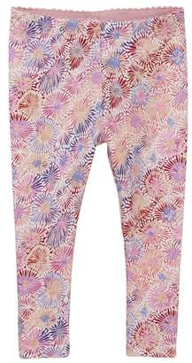 Tea Collection Red Mallee Floral Leggings (Baby Girls)