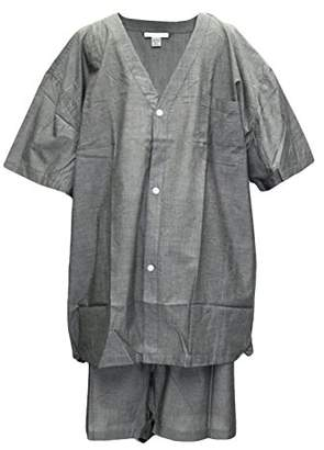 Geoffrey Beene Men's Broadcloth Short Sleeve Knee-Length Pajama Set