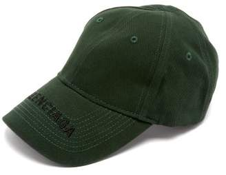 3c3d442f Balenciaga Logo Embroidered Cotton Cap - Womens - Green