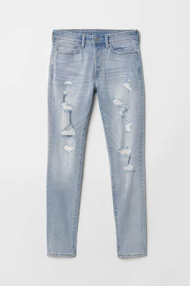 H&M Trashed Skinny Jeans - Blue
