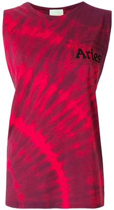 Aries bleach-effect racerback tank top