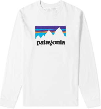 Patagonia Long Sleeve Shop Sticker Responsibili-Tee