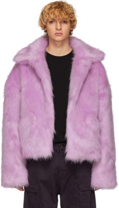 Landlord Purple Faux-Fur Capsule Jacket