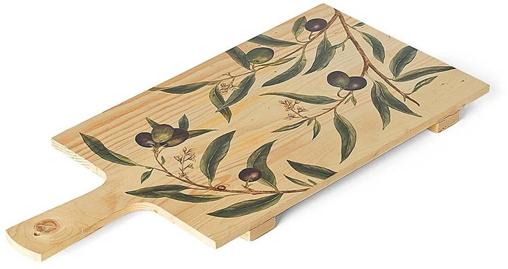 Williams-Sonoma Printed Rectangular Board, Large ,Olive Leaves