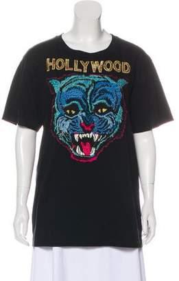 6cb713bfc022 Gucci 2017 Angry Cat T-Shirt