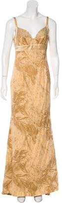 Carmen Marc Valvo Jacquard Evening Dress