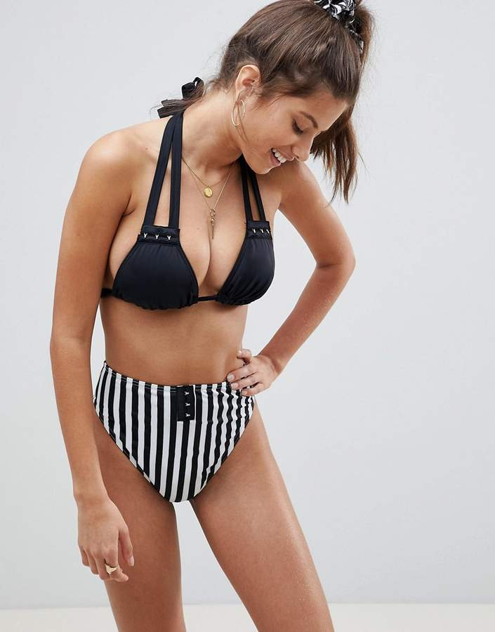 ASOS FULLER BUST Mix and Match Supportive Triangle Bikini Top with Hook and Eye DD-F