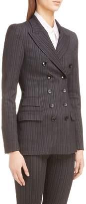 Isabel Marant Kristle Wool & Linen Blend Stripe Blazer