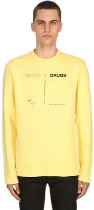 Raf Simons Drugs Printed Cotton Jersey Sweatshirt