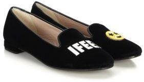 Chiara Ferragni I Feel Velvet Smoking Slippers $295 thestylecure.com
