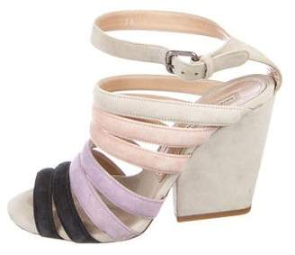 Dries Van Noten Multistrap Colorblock Sandals