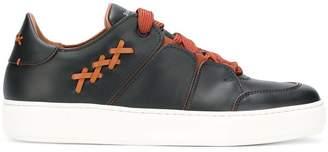 Ermenegildo Zegna crisscross detail sneakers