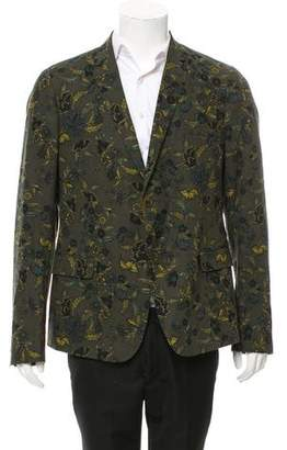 Gucci Floral Two-Button Blazer