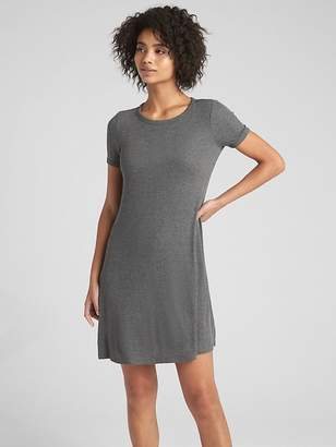 Gap Short Sleeve Ribbed T-Shirt Dress