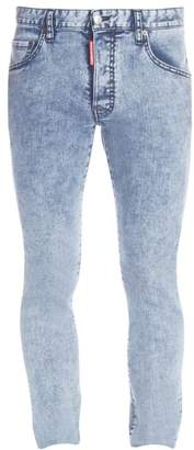 DSQUARED2 Acid Wash Skater Jeans