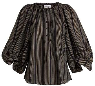 Apiece Apart Everlasting Striped Blouse - Womens - Black Multi