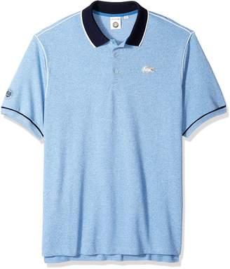 Lacoste Men's Short Sleeve Pique with Contrast Piping & Collar Polo, PH3374