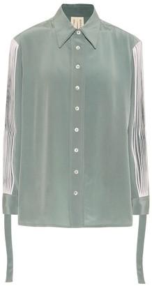 BODICE Pleated silk shirt