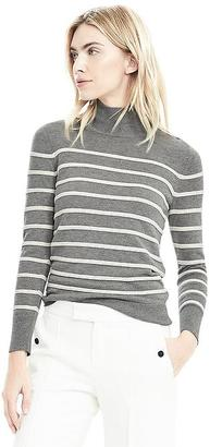 Ottoman Striped Mock Neck Top $78 thestylecure.com