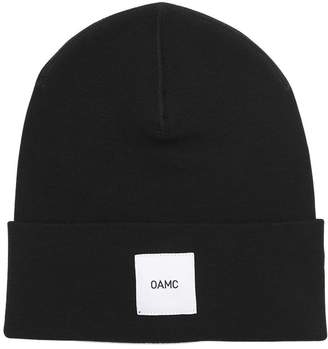 Oamc Logo Patch Wool Beanie Hat