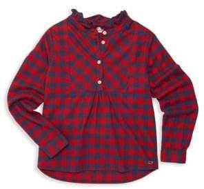 Vineyard Vines Baby, Little & Girl's Ruffled Buffalo Check Shirt
