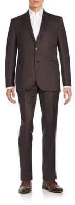 Saks Fifth Avenue Regular-Fit Herringbone Wool Suit