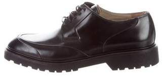 Christian Dior Leather Round-Toe Oxfords