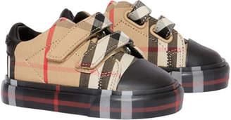 Burberry Kid's Mini Markham Check Sneakers, Baby
