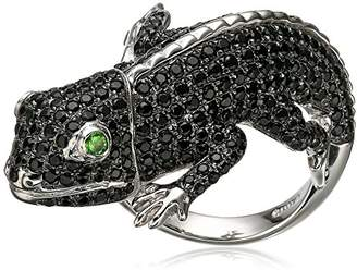 Sterling Silver Spinel And Tsavorite Lizard Ring