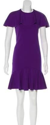 Alexander McQueen Flounce Hem Wool Dress