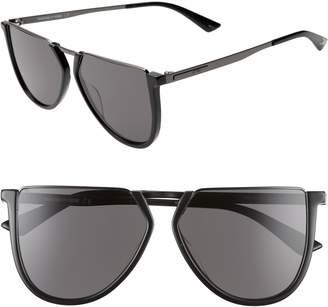 McQ 58mm Flat Top Sunglasses