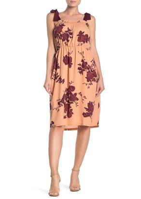Bobeau Floral Sleeveless Dress