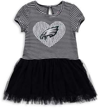 Outerstuff Girls Toddler Black/White Philadelphia Eagles Celebration Scoop Neck Tutu Dress