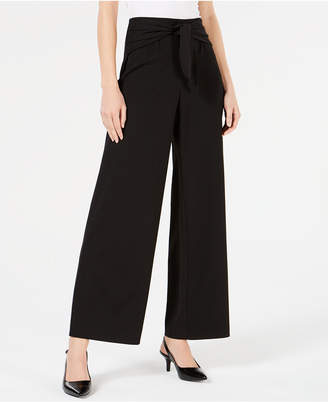 Alfani Tied High-Waist Wide-Leg Pant