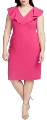 Rachel Roy Ruffle Front Sheath Dress