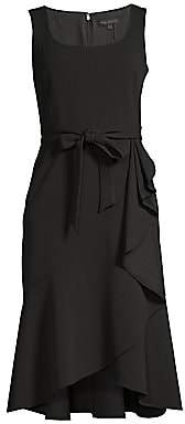 DKNY Women's Ruffled Fit-&-Flare Wrap Dress