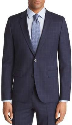 HUGO Astian Slim Fit Tonal Plaid with Windowpane Suit Jacket