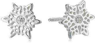Disney Sterling Frozen Snowflake Post Stud Earrings