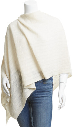 Hannah Rose Cable Cashmere Topper