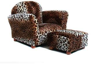 Keet Roundy Children's Chair Leopard with ottoman