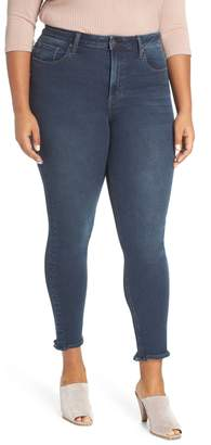 d8aeb49ff9f3d Max Studio MAXSTUDIO Indigo Perfect Vintage High Waist Core Fringe Hem  Skinny Jeans