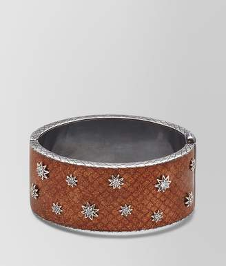 Bottega Veneta Brown Antique Silver Stellular Cuff