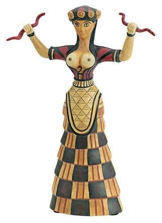 Design Toscano Cretan Snake Goddess Statue (1500 B.C.)