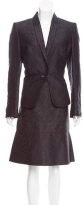 Gianfranco Ferre Jacquard Skirt Suit