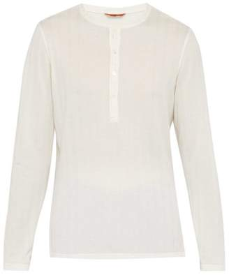 Barena Venezia - Ribbed Cotton Pique Henley Shirt - Mens - White