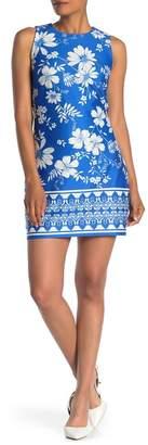 Vince Camuto Floral Sleeveless Sheath Dress