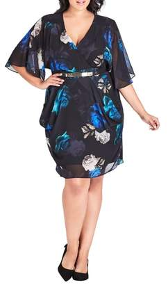 City Chic Electric Rose Dress