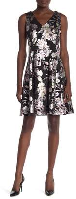 Robbie Bee Sleeveless Floral A-Line Dress
