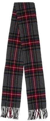DSQUARED2 Tartan Plaid Wool Scarf
