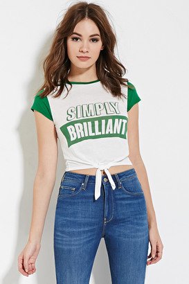 FOREVER 21 Simply Brilliant Graphic Tee $14.90 thestylecure.com